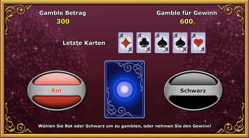 Risiko-Modus bei Lucky Lady Charm