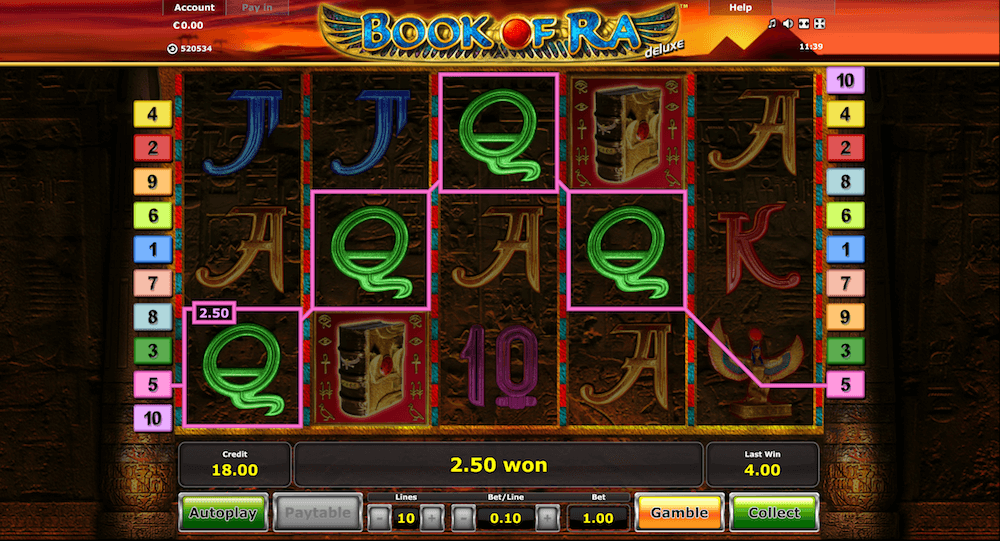 Book of Ra im 77 Jackpot Casino