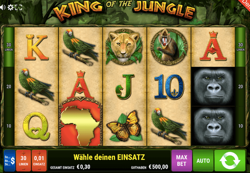 King of the Jungle Start