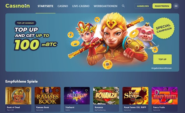 Casinoin Webseite