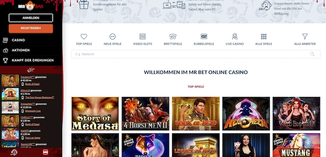 Mr Bet Casino Webseite