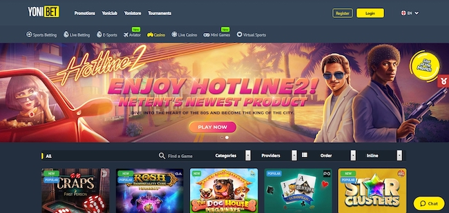 Yonibet Casino Webseite