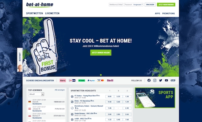 bet-at-home Webseite