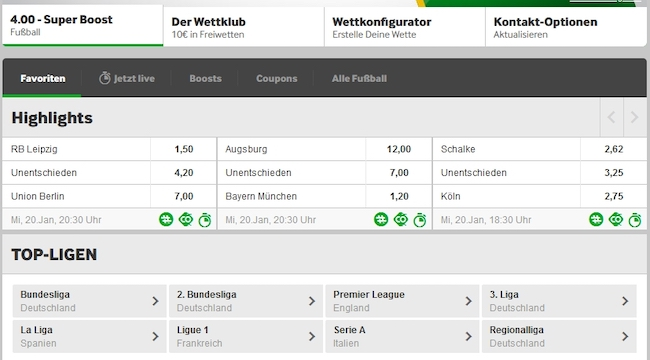 Betway Sports Fußball