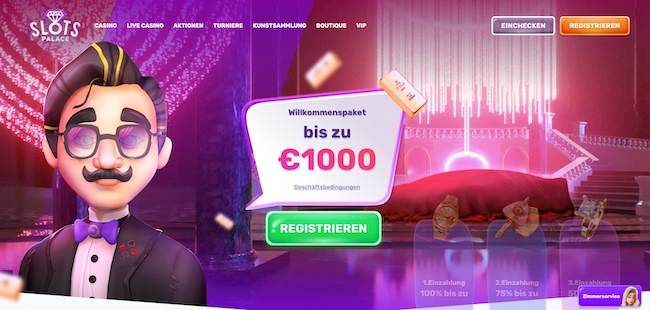 SlotsPalace Casino Webseite