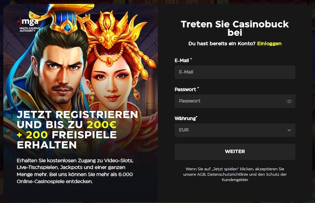 CasinoBuck Bonus